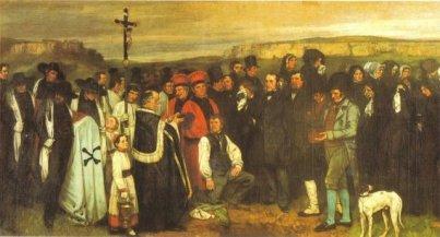 Courbet - Funerale Ornans