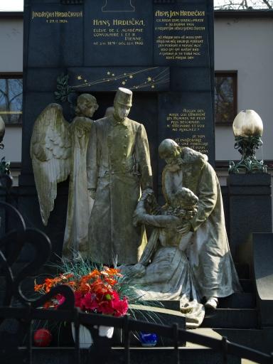 Hans Hrdlička - Olšanské hřbitovy - Praha