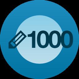 CONGRATULAZIONI: HAI SCRITTO 1000 POST su EVAPORATA